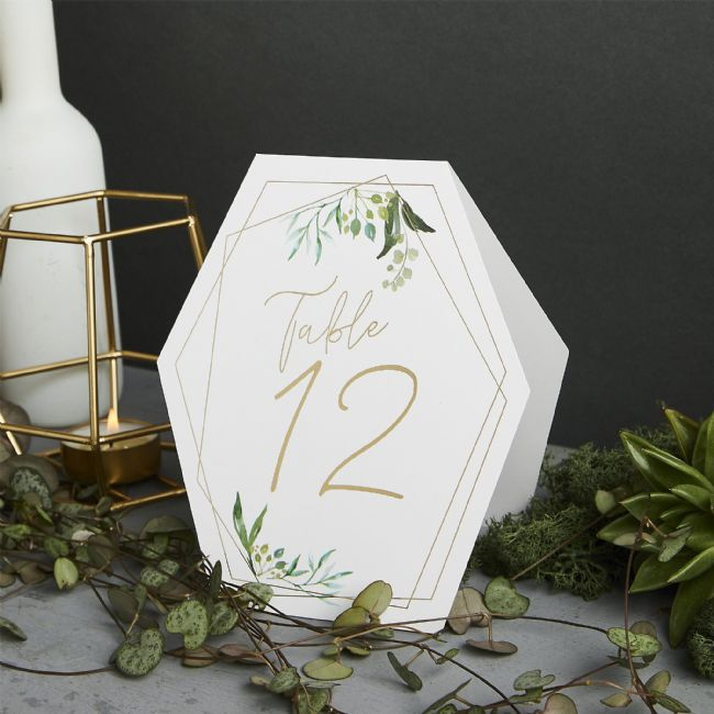 Geo Botanics Table Numbers 1-12